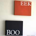 BOO and EEK Canvas