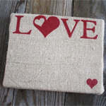 Burlap Love Canvas