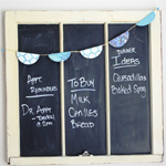 Vintage Chalkboard Window