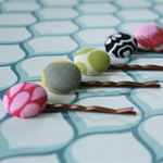 Fabric Button Hair Pin