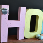 Speckled HOP Letters
