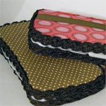Fabric Covered Wipes Case