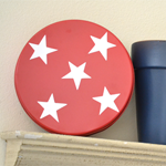Patriotic Tin Decor
