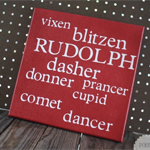 Reindeer Name Canvas