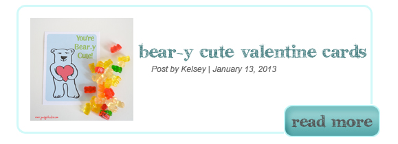 Beary Cute Gummy Bear Valentine Printable
