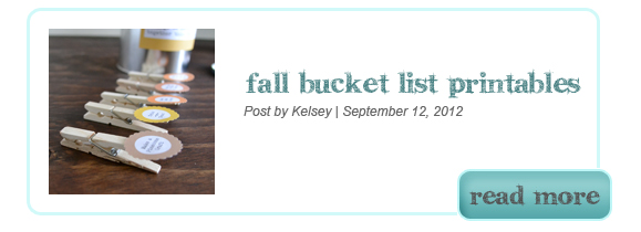 Fall Bucket List Printables