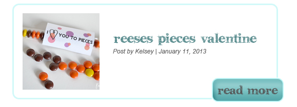 Reese's Pieces Valentine Card Printable