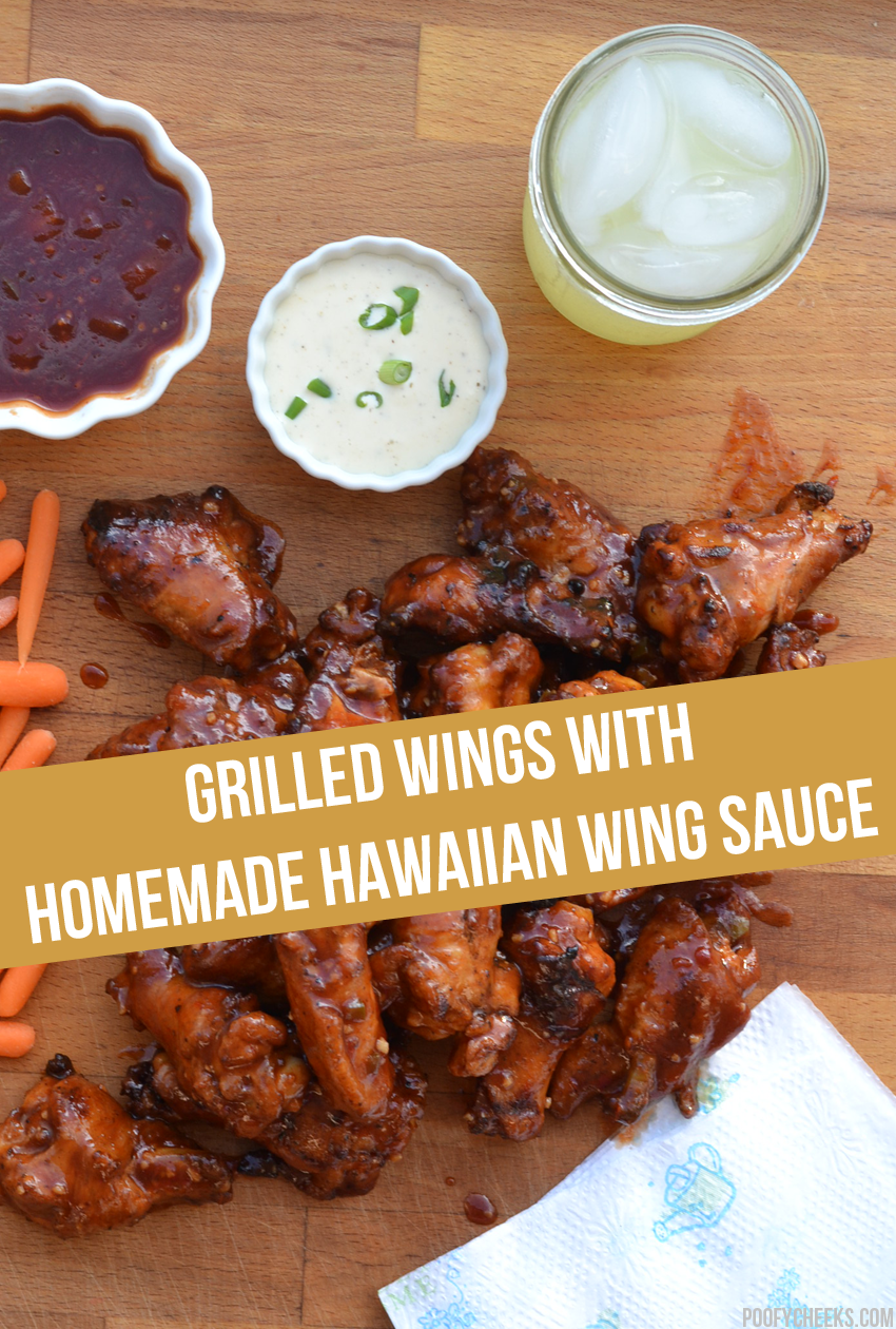#whatsgrillin - Grilled Chicken Wings with a Homemade Hawaiian Wing Sauce Recipe